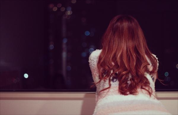チャットレディ 夜景を眺める